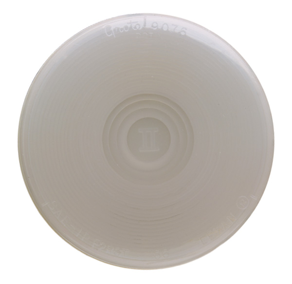 62121 – 4″ Torsion Mount License/Back-up, Frosted Clear, Male-Pin