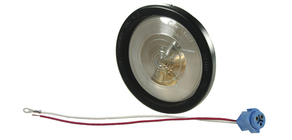62221 – 4″ Torsion Mount® II Single-System Backup Light, Male Pin, Clear Kit (61451 + 91740 + 67013)