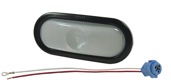62251 – Torsion Mount® III Oval Dual System Backup Light, Female Pin, Clear Kit (62231 + 92420 + 67010)