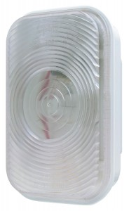62381 – Rectangular Dual-System Backup Light, Female Pin, Clear