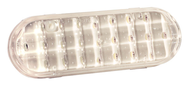 Grote Industries - 62561 – Supernova® Oval Single-System LED Backup Light, Grommet Mount, Clear