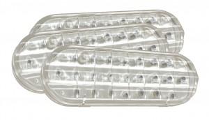 62601-3 – SuperNova® Oval Dual-System LED Backup Light, Horizontal Grommet Mount, Clear, Bulk Pack
