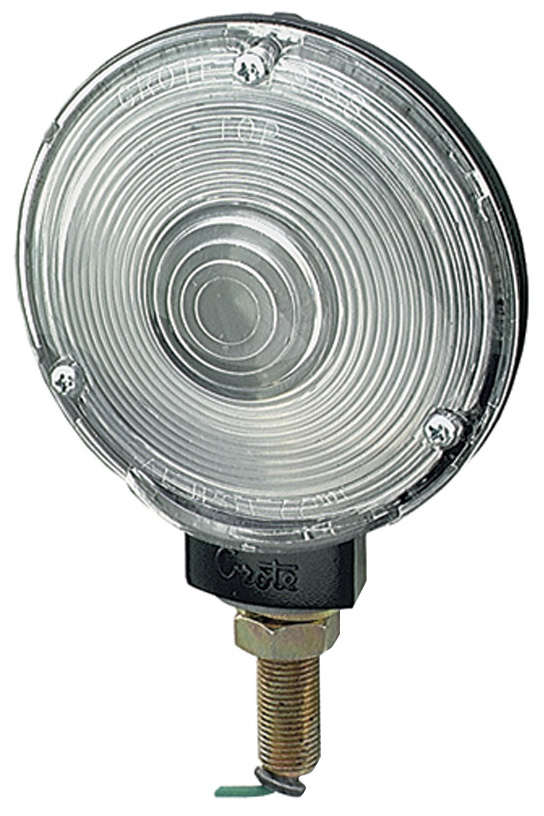 63051 – 4″ Zinc Die-Cast Single-Face Lamp, Black Enamel Finish, Clear
