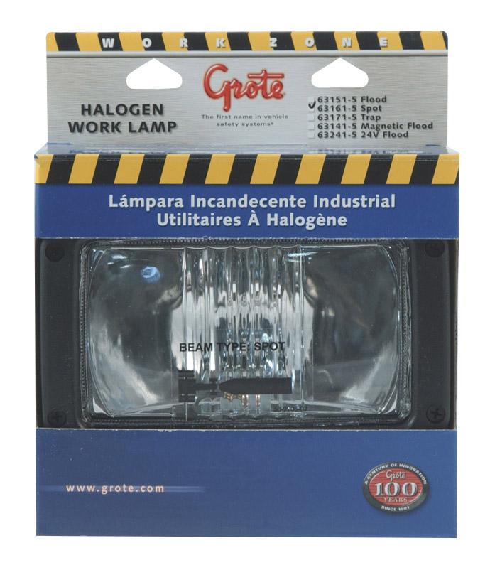 63161-5 – Rectangular Halogen Work Light, Spot, Retail Pack