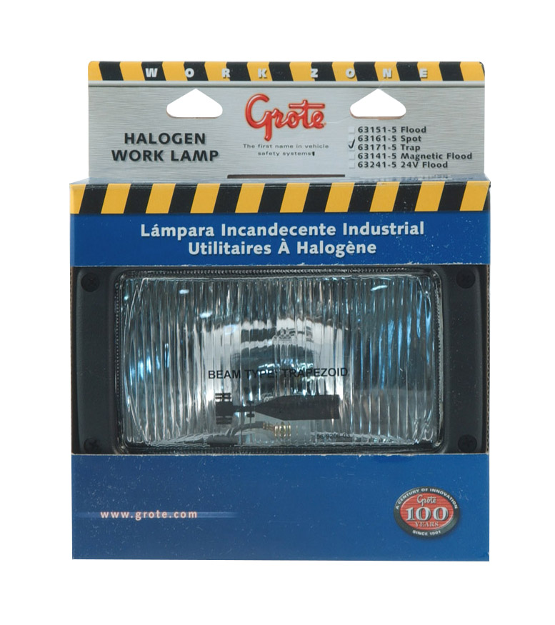 63171-5 – Rectangular Halogen Work Light, Trapezoid, Retail Pack