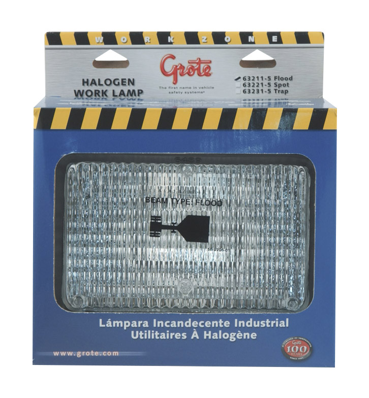 Grote Industries - 63211-5 – 4″ x 6″ Rectangular Rubber Work Lights, Flood, Retail Pack