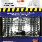 24 Volt Retail Large Flood Rectangular Halogen Work Light