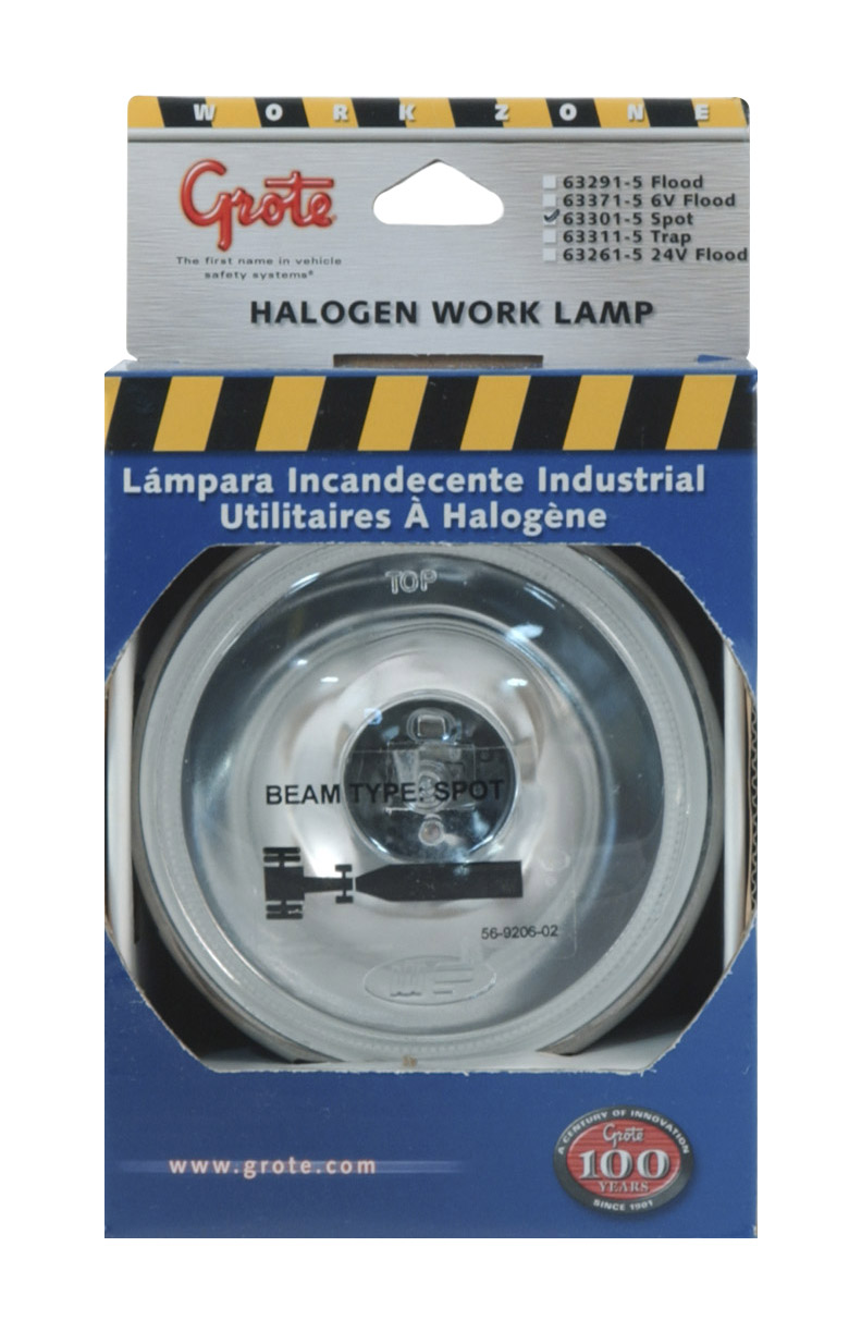 Grote Industries - 63301-5 – Par 36 Utility Light, Round Halogen Work Light, Spot, Retail Pack