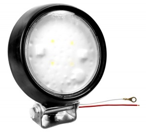 63551 – LED WhiteLight™ 4″ Dome Light, Flood, Hardwired, Rubber Housing, 12V, Black