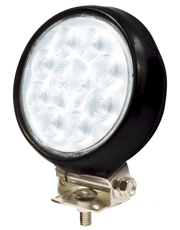 63561 – 4″ Round Utility Light, Hardwire, Spot w/ Rubber Housing, Black