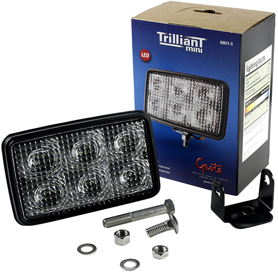 Grote Industries - 63611-5 – Trilliant® Mini LED WhiteLight™ Work Light, Clear, 700 Lumens, Flood, Retail Pack