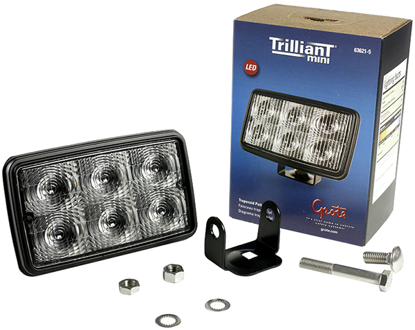 Grote Industries - 63621-5 – Trilliant® Mini LED WhiteLight™ Work Light, Trapezoid, 700 Lumens, Clear, Retail Pack