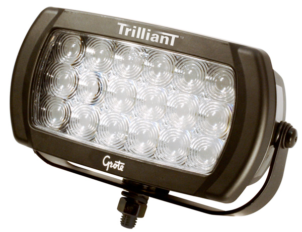 Grote Industries - 63671 – Trilliant® LED Work Light, 2100 Lumens, Beam Pattern, Spot, 24V