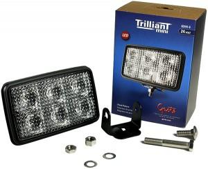 63741-5 – Trilliant® Mini LED Work Light, Flood, 24V, 700 Lumens, Clear, Retail Pack