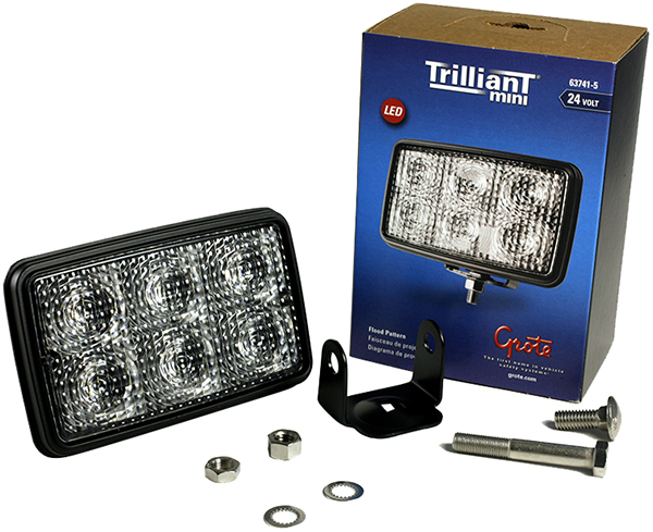 Grote Industries - 63741-5 – Trilliant® Mini LED Work Light, Flood, 24V, 700 Lumens, Clear, Retail Pack