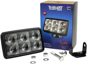 63751-5 – Trilliant® Mini LED Work Light, Trapezoid, 24V, 700 Lumens, Clear, Retail Pack