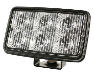 63751 – Trilliant® Mini LED WhiteLight™ Work Light, Trapezoid, 24V, 700 Lumens, Clear