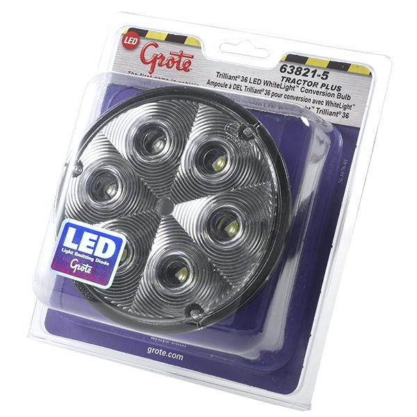 63821-5 – Trilliant® 36 LED Work Light, TractorPlus™ Pattern, Spade/Screw Terminals, Retail Pack