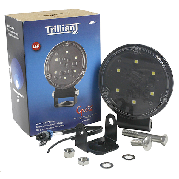 Grote Industries - 63871-5 – Trilliant® 36 LED Work Light, Hard Shell SuperSeal, Wide Flood, Retail Pack