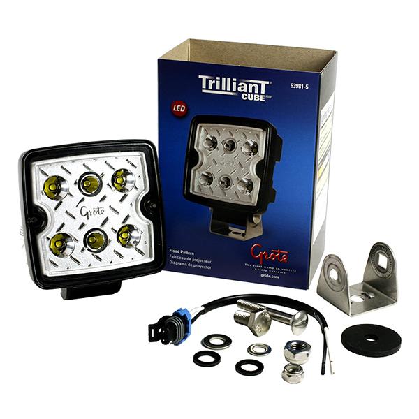Grote Industries - 63981-5 – Trilliant® Cube LED Work Light, 1200 Lumens, 12V/24V, Flood, Retail Pack