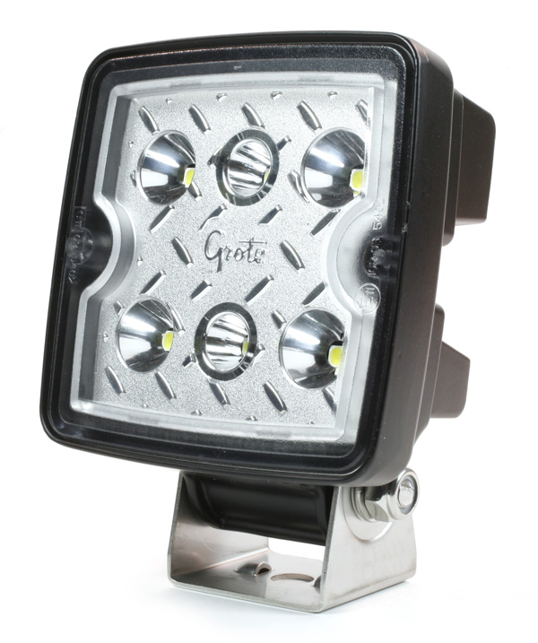 Grote Industries - 63E21 – Trilliant® Cube LED Work Light, 1200 Lumen, 12V/24V, Flood