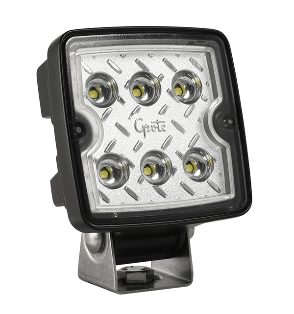 Grote Industries - 63E31 – Trilliant® Cube LED Work Light, 1200 Lumens, 12V/24V, Wide Flood