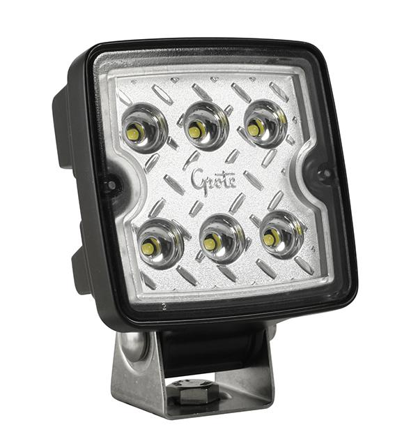 Grote Industries - 63E31 – Trilliant® Cube LED Work Light, 1200 Lumens, 12V/24V, Wide Flood
