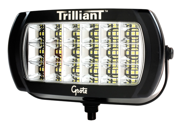 Grote Industries - 63E41 – Trilliant® LED Work Light, 2400 Lumens, w/ Reflector, Flood, 12/24V