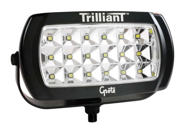 Grote Industries - 63E51 – Trilliant® LED Work Light, 2200 Lumens, w/ Reflector, Wide Flood, 12V/24V