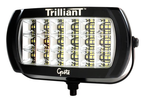 63E61 – Trilliant® LED Light, 2400 Lumens, w/ Reflector, Flood, Hardwired, 24V