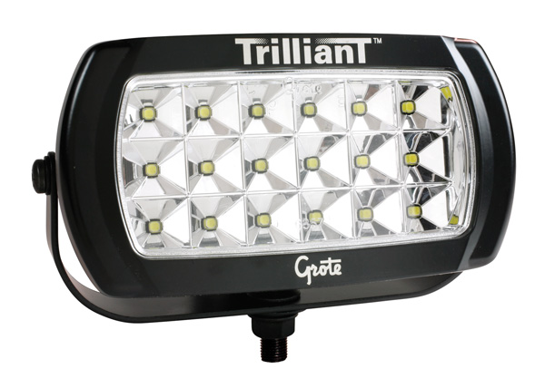 Grote Industries - 63E71 – Trilliant® LED Work Light, 2200 Lumens, w/ Reflector, Wide Flood, 24V
