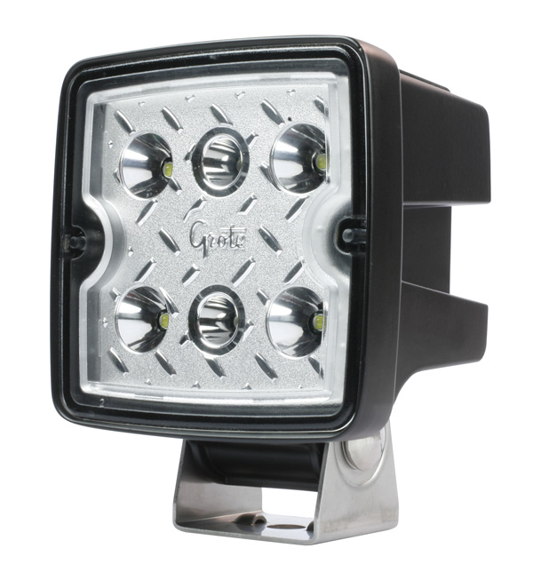Grote Industries - 63F61-5 – Trilliant® Cube 2.0 LED Work Light, 2500 Lumen, Flood, Retail Pack