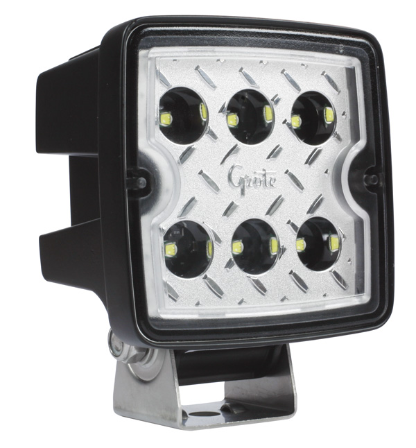 Grote Industries - 63F71 – Trilliant® Cube 2.0 LED Work Light, 3000 Lumen, Wide Flood