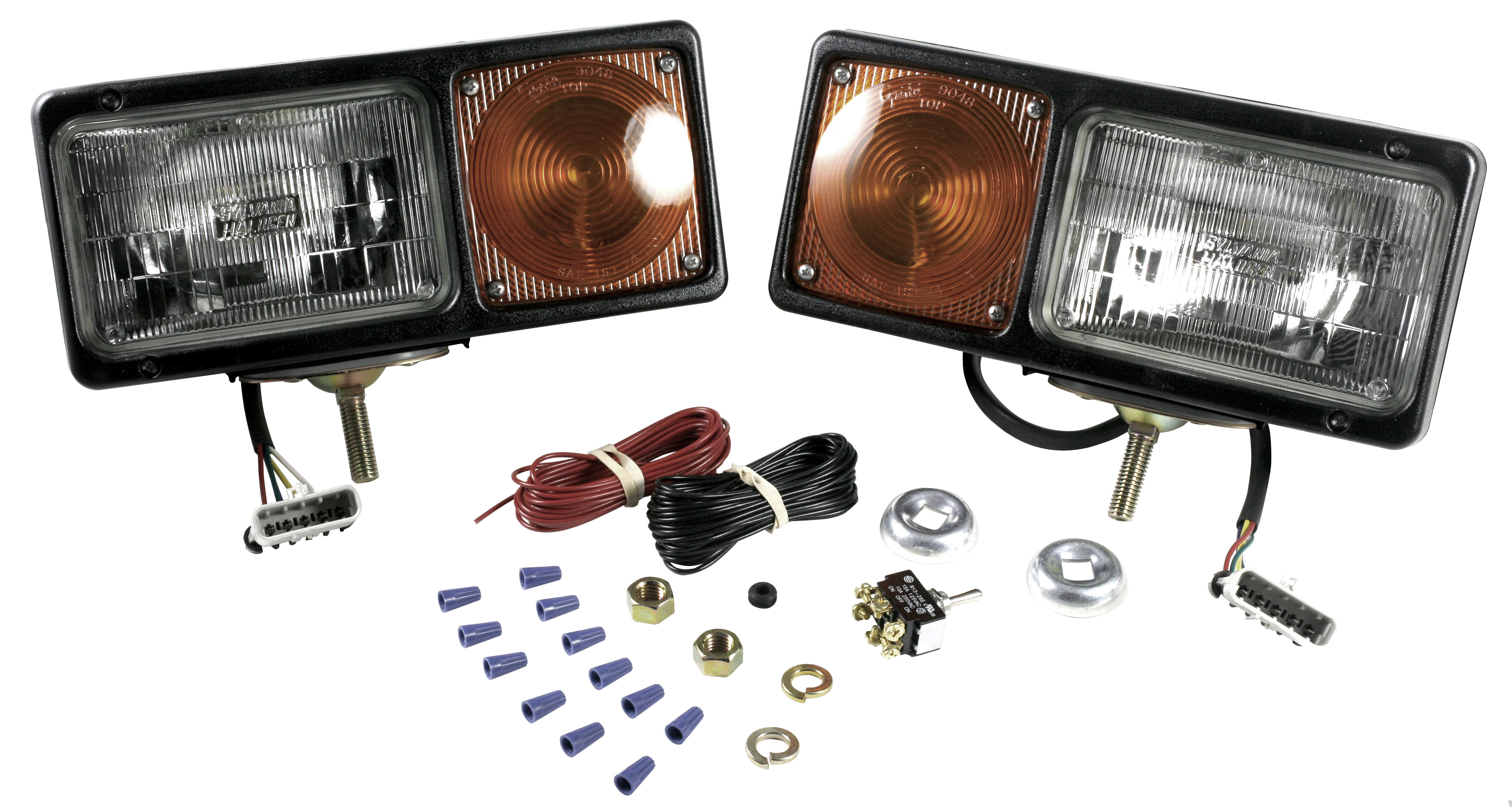 64291-4 – Per-Lux® Snowplow Lights, Sealed Beam w/ Connector, Pair Pack