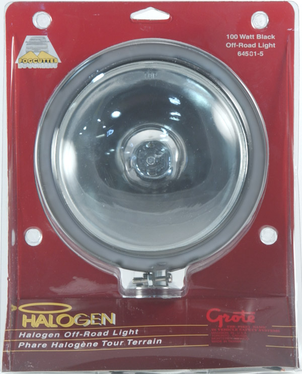 64501-5 – Round Off-Road Light, Chrome, Retail Pack