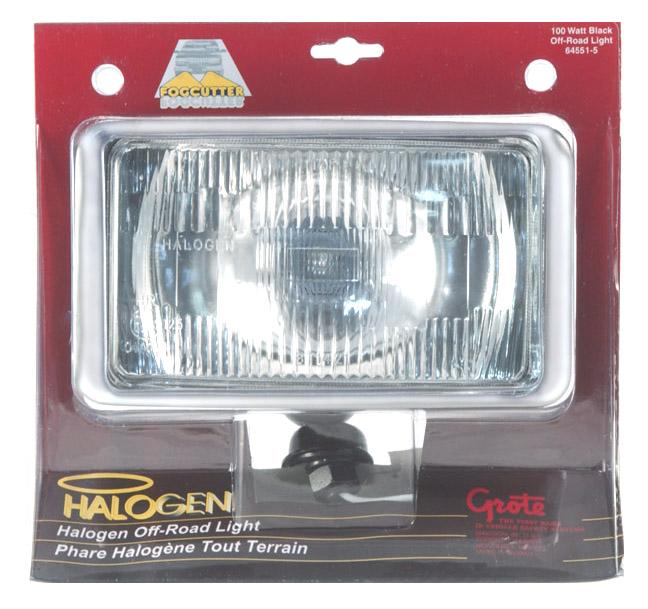 64551-5 – 7″ Rectangular Off-Road Lights, Chrome, Retail Pack
