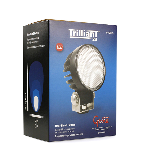 Grote Industries - 64G11-5 – Trilliant® 26 LED Work Light, Pendant Mount, 1800 Lumens, Near Flood, Retail Pack