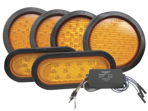 "65130 – Alternating ""X"" Pattern LED Strobe Light Kit, 6-Light System, Yellow"