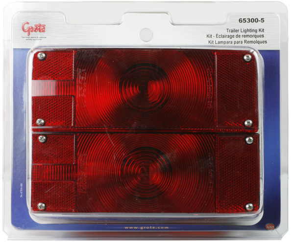 Grote Industries - 65300-5 – Submersible Low-Profile Trailer Lighting Kit, Red, Retail Pack