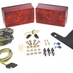 red submersible compact trailer lighting kit