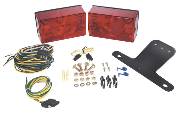 65312 – Submersible Compact Trailer Lighting Kit, Red