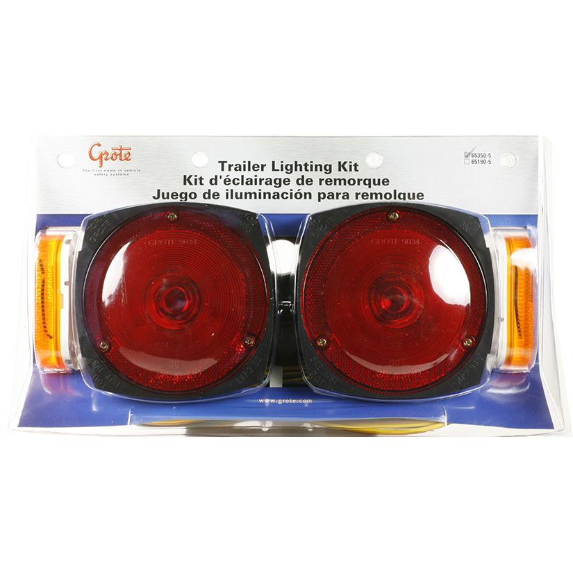 65350-5 – Trailer Lighting Kit with Side Marker Light and Clearance Marker Light, Red/Yellow, Retail Pack
