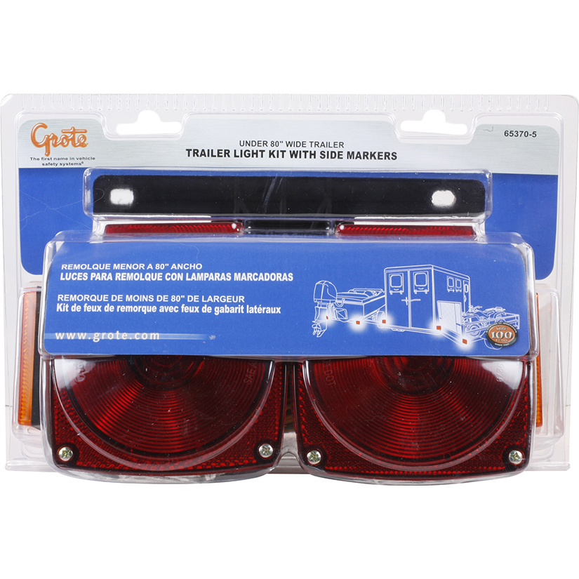 Grote Industries - 65370-5 – Trailer Lighting Kit, w/ Clearance Marker, Red/Yellow, Retail Pack