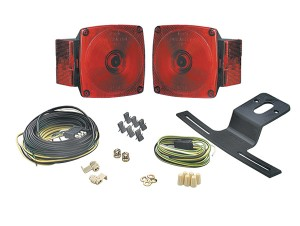 65380-5 – Trailer Lighting Kit, w/out Clearance Marker, Red, Retail Pack