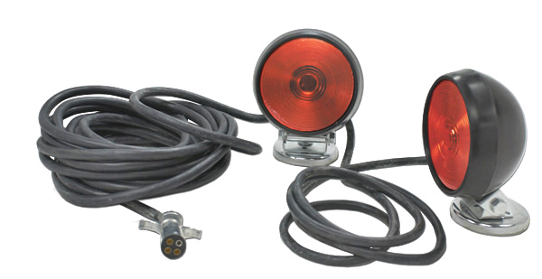 Magnetic Trailer Lights Wiring Diagram : Heavy duty magnetic towing kit red