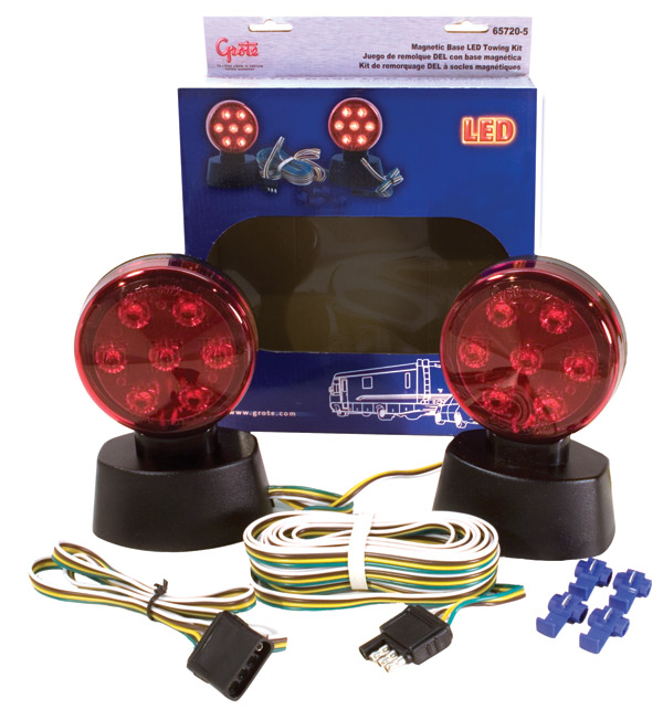 Grote Industries - 65720-5 – Magnetic LED Towing Kit, Red