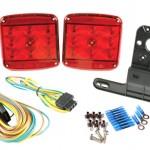 Submersible LED lighting kit for boat trailer