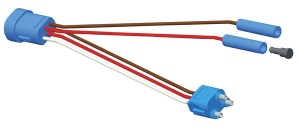 Conector flexible adaptador, medio giro