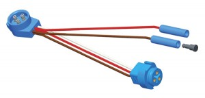 66823 – Midturn Adapter Pigtail, Adapter, Male-to-Male Pin, (2) Additional Standard .180 Receptacles