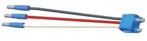 66825 – Stop Tail Turn Three-Wire Plug-In Pigtail For Female Pin Lights, 8″ Long, Ground Return, Slim-Line .180 Male
